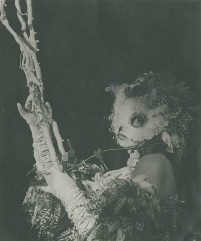 André Ostier. Leonor Fini as Snowy Owl 1949. Via auction.fr