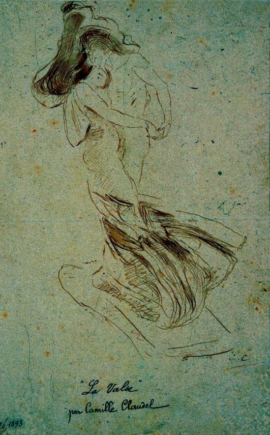 Camille Claudel. La valse 1893. Via MujeresArtistas on tumblr