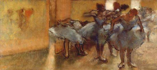 Edgar Degas. Dancers in the foyer 1889