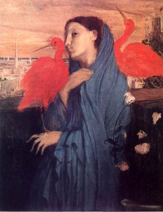Edgar Degas. Woman and ibis 1857