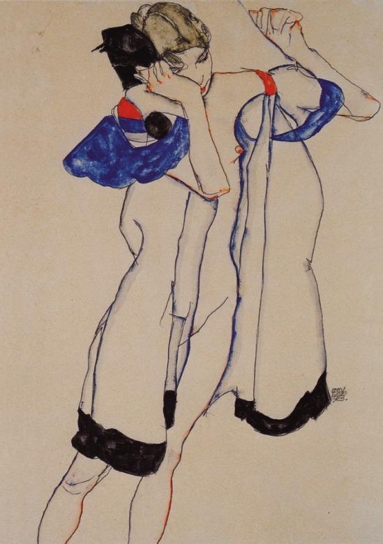Egon Schiele. Frau im morgenrock 1913
