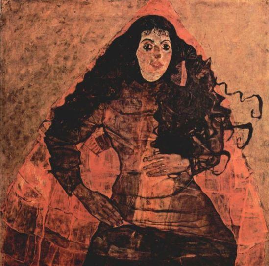 Egon Schiele. Porträt der Trude Engel 1911