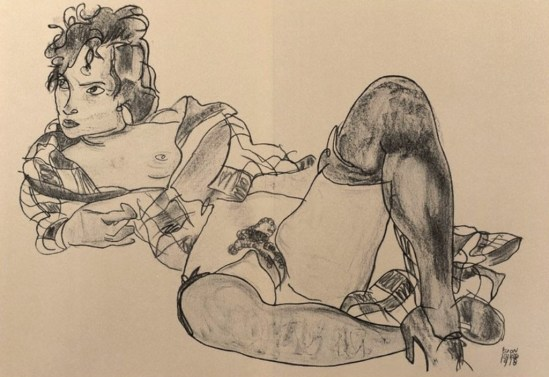 Egon Schiele. Reclining woman  1918