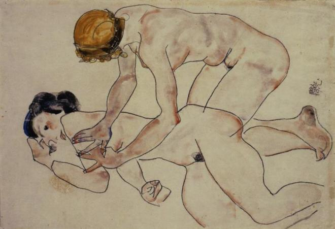 Egon Schiele. Two female nudes 1912