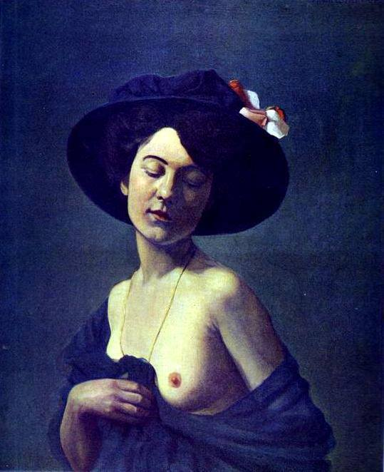 Félix Vallotton. Lady in a hat 1908