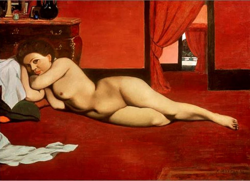 Félix Vallotton. Nude in a red interior 1897