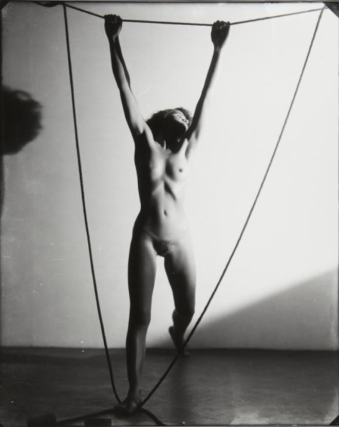 Frantisek Drtikol. Nude hanging from rope. Via artmuseum