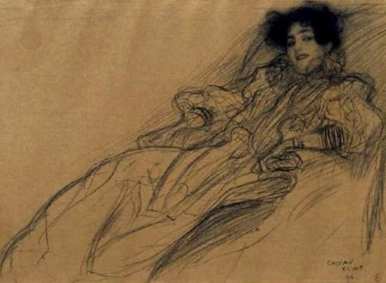 Gustav Klimt. Junge dame im sessel