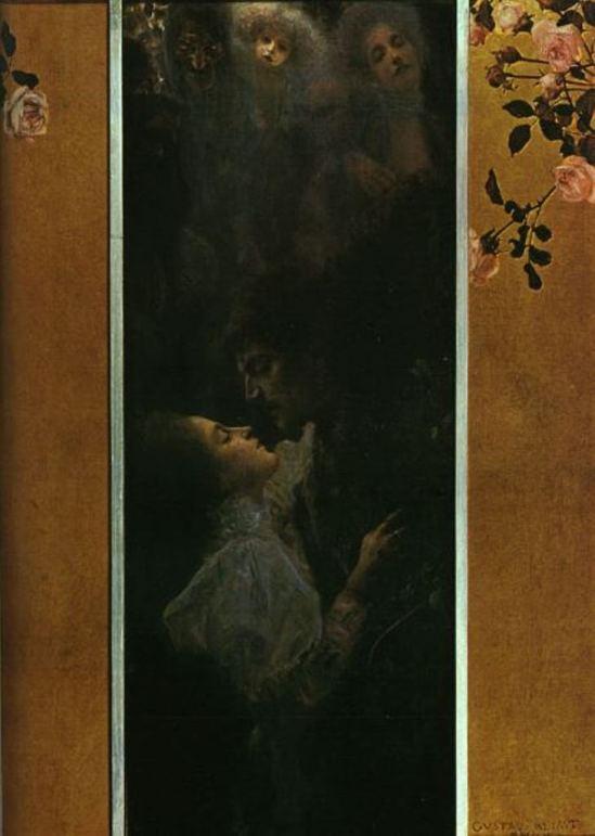 Gustav Klimt. Love 1895