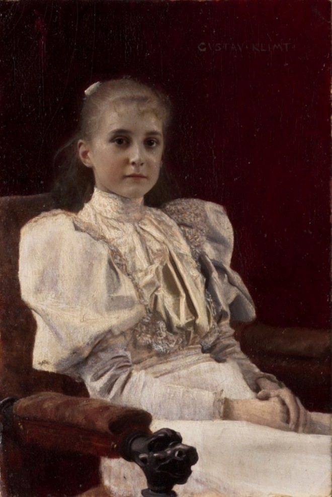 Gustav Klimt. Seated young girl 1894