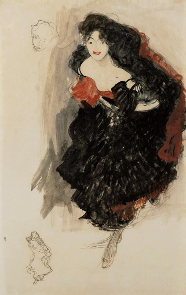 Gustav Klimt. Study for Judith II 1908