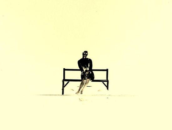 Kansuke Yamamoto. My bench 1963 ©Toshio Yamamoto. This was published in the CAMERA GEIJUTSU April 1964