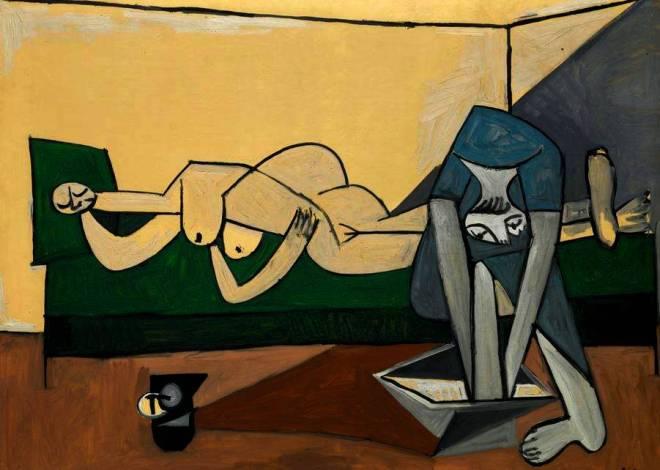 Pablo Picasso. Woman washing