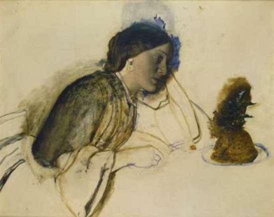 Robert Braithwaite Martineau (1826 - 1869). The poor actress's christmas dinner