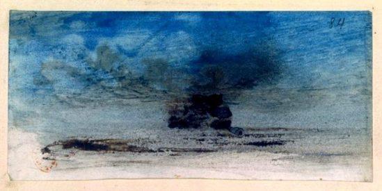 Victor Hugo. Rocher et ciel bleu 1835-1863
