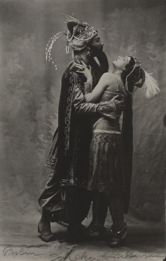 Adolph Bolm and Tamara Karsavina in Scheherazade 1910. Via theredlist