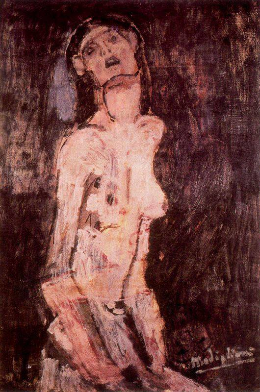 Amedeo Modigliani. A suffering nude 1909