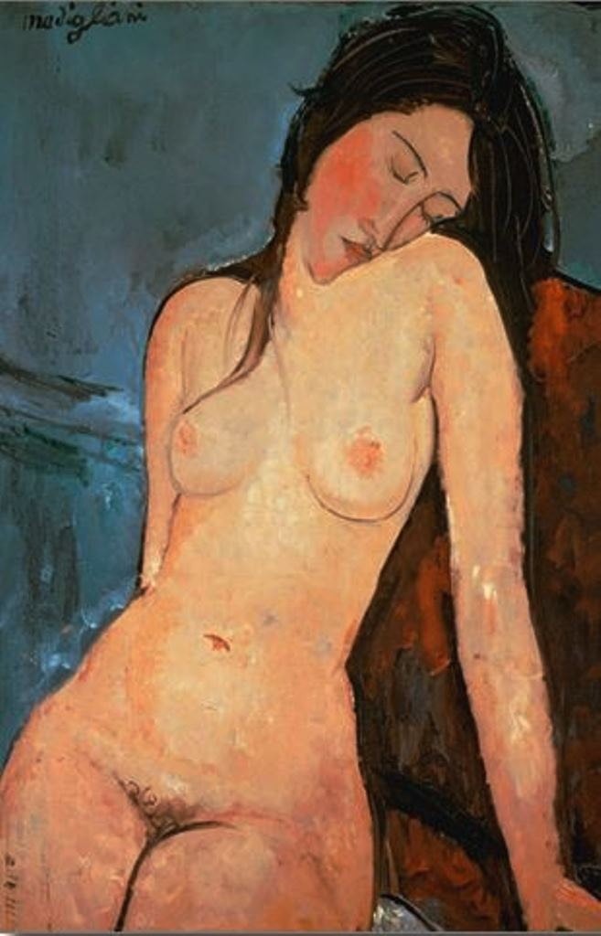 Amedeo Modigliani.Nu assis 1916