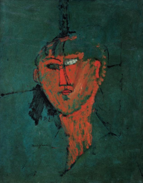 Amedeo Modigliani. Tête rouge 1915
