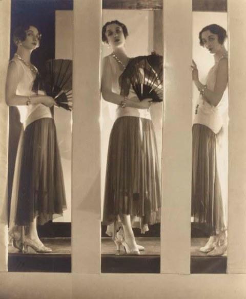 Baron Adolph de Meyer. Chantal à la robe. Chloé 1929. Via christies