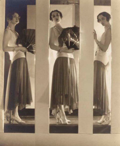 Baron Adolph de Meyer. Chantal à la robe. Chloé 1929. Via christies