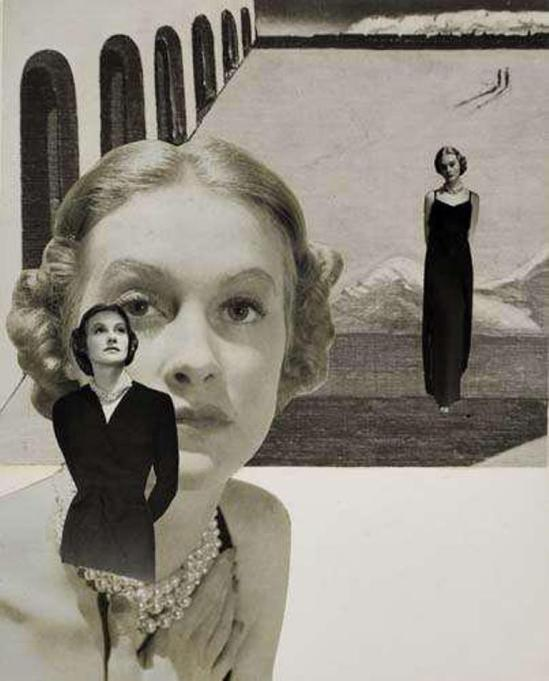 Herbert Matter. Sans titre. Collage 1945. Via luminouslint