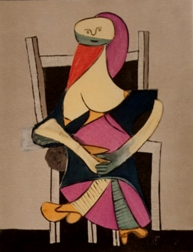 Pablo Picasso. Femme assise 1955