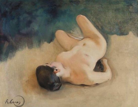 Ramon Casas i Carbó. Reclining nude