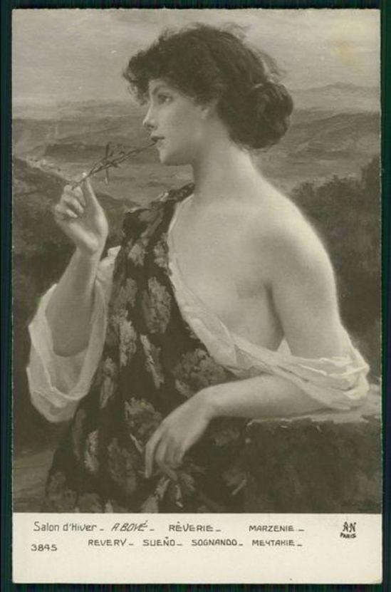 Alfred Noyer. Rêverie d'A. Boyé. Salon de Paris. Via ebay
