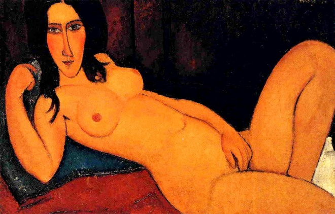 Amedeo Modigliani. Reclining nude 1916
