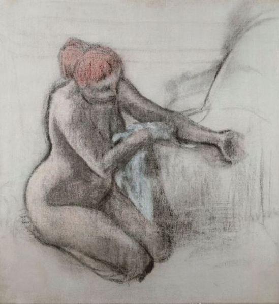 Edgar Degas. Femme se sèchant