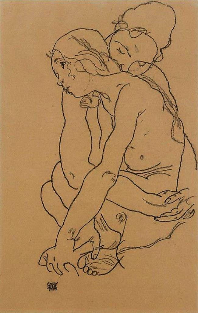 Egon Schiele.  Two women 1918