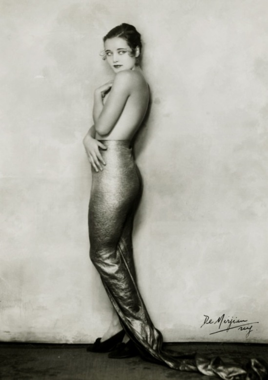 John de Mirjian. Cornelia Rogers as a topless mermaid from Flying High George White musical c. 1930. Via vintagegal on tumblr