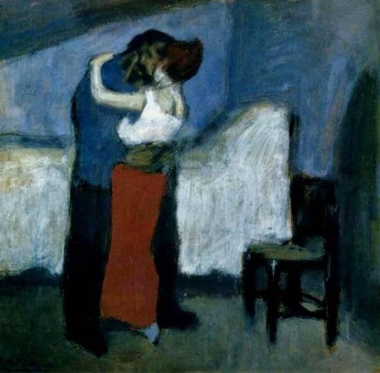 Pablo Picasso. Le baiser 1900