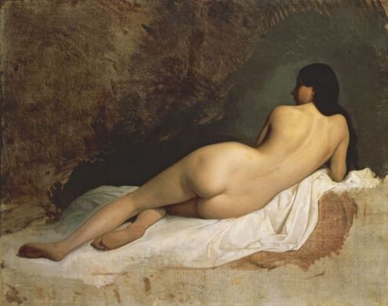 Thomas Couture. Odalisque  1870