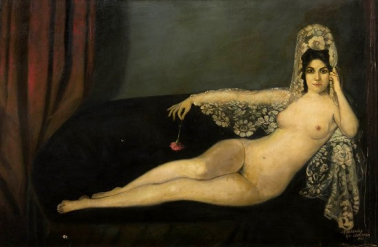 After Ignacio Zuloaga y Zabaleta. Odalisque 1963