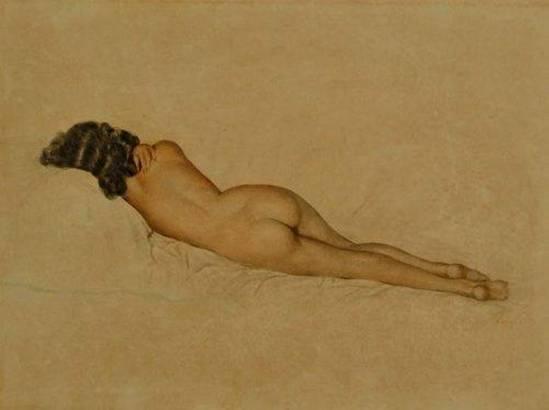 Alberto Vargas. Reclining nude