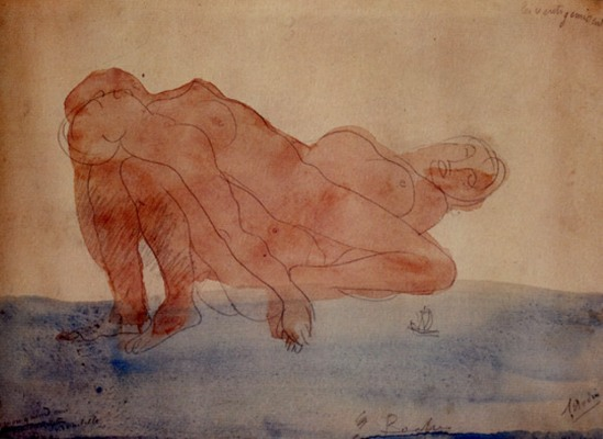 Auguste Rodin. The moaning winds