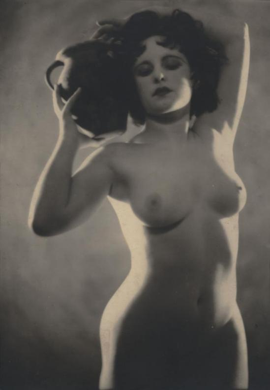 B. Leedham. Female Nude with Vase 1930s. Via invaluable
