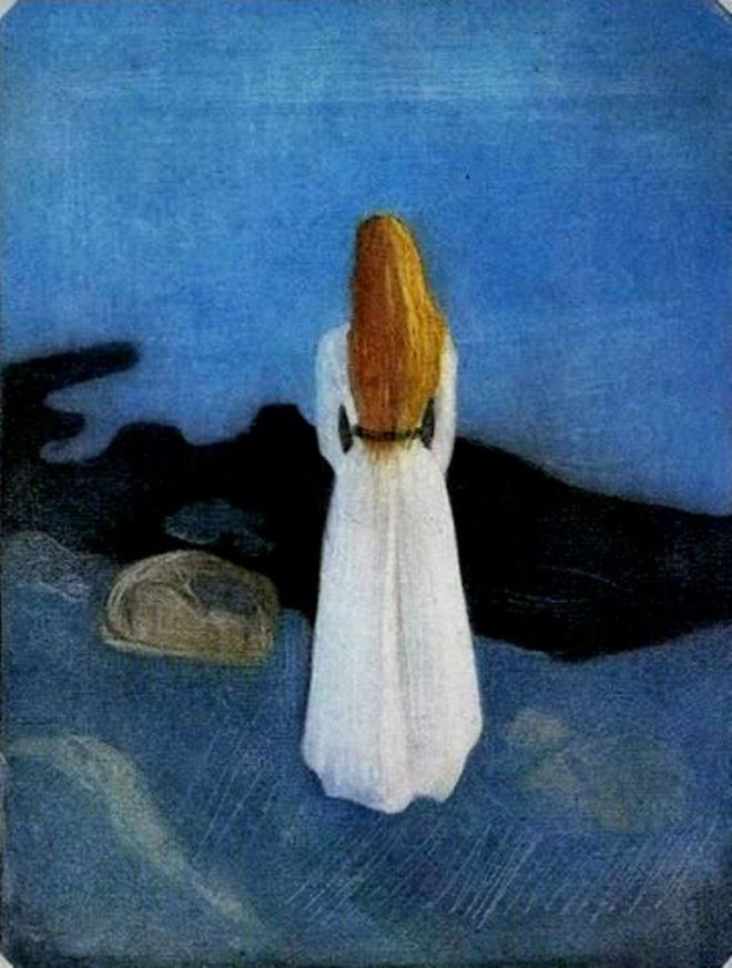 Edvard Munch. Young woman on the shore 1896