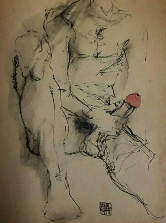 Egon Schiele. Signed 1916-1917. Sketch Book. Via liveauctioneers