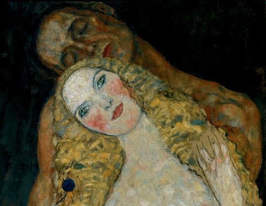 Gustav Klimt. Adam and Eve 1917 (Détail)