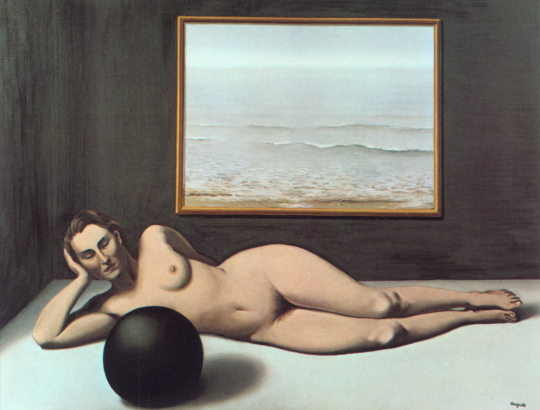 René Magritte. Bather between light and darkness 1935
