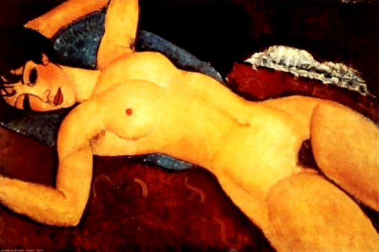 Amedeo Modigliani. Nu couché les bras ouverts 1917