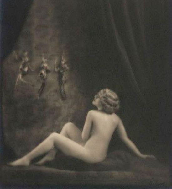 Emil Otto Hoppé. Nude Study with Puppets 1918. Via corbis