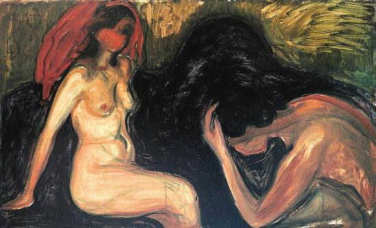 Edvard Munch. Man and woman 1898