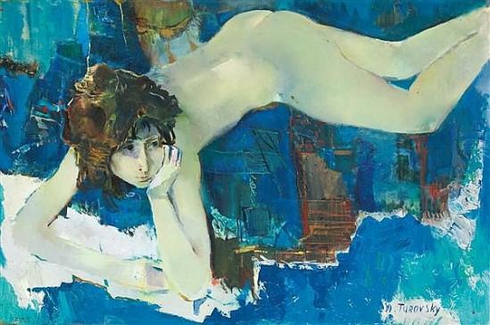 Mikhail Turovsky. Jeune fille allongée