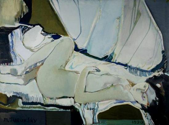 Mikhail Turovsky. Reclining nude 1990