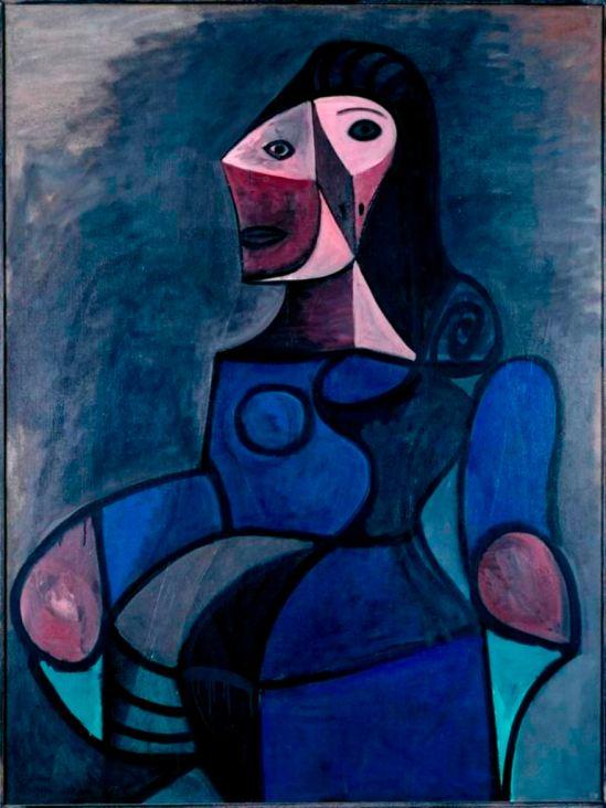 Pablo Picasso. Femme en bleu 1947