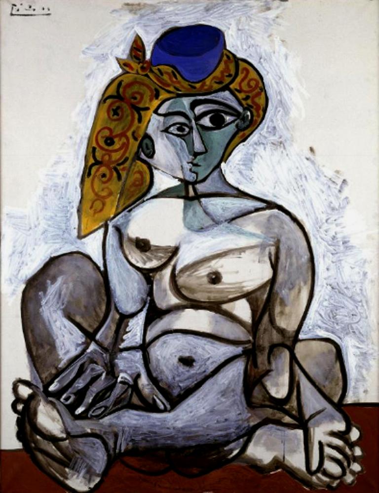 Pablo Picasso. Femme nue au bonnet turc 1955
